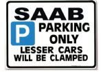 SAAB Car Parking Sign - Gift for 9000 900 9-3 9-5 turbo s se  Models - Size Large 205 x 270mm
